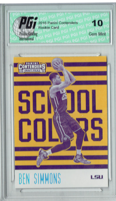 Ben Simmons 2016 Panini Contenders #1 School Colors Rookie Card PGI 10