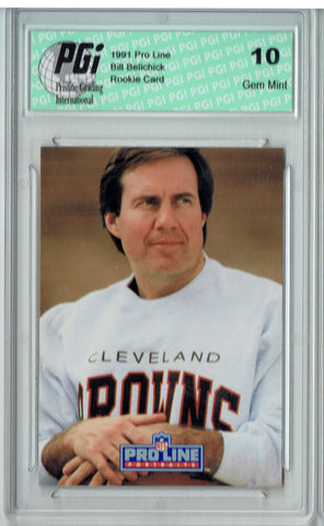 Bill Belichick 1991 Proline Portraits #115 Rookie Card PGI 10