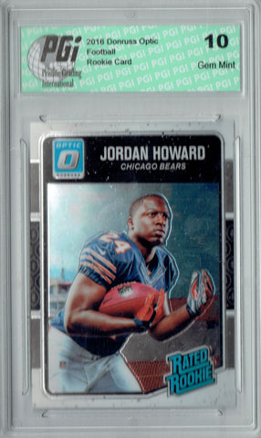 Jordan Howard 2016 Donruss Optic #177 Rookie Card PGI 10