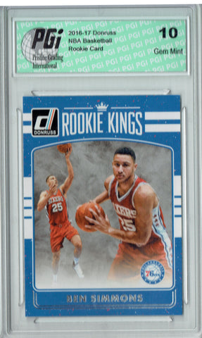 Ben Simmons 2016 Donruss #2 Rookie Kings SP Rookie Card PGI 10