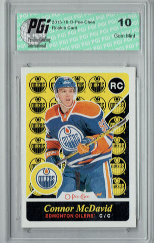 Connor McDavid 2015 O-Pee-Chee #U-11 Retro SP Rookie Card PGI 10