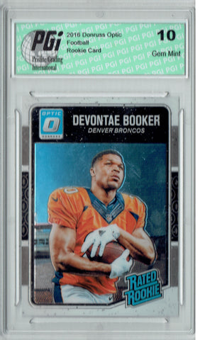 Devontae Booker 2016 Donruss Optic #166 Rookie Card PGI 10