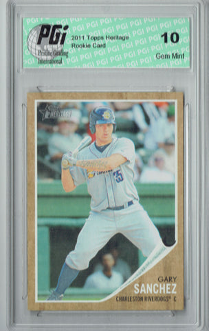 Gary Sanchez 2011 Topps Heritage #39 Rookie Card PGI 10