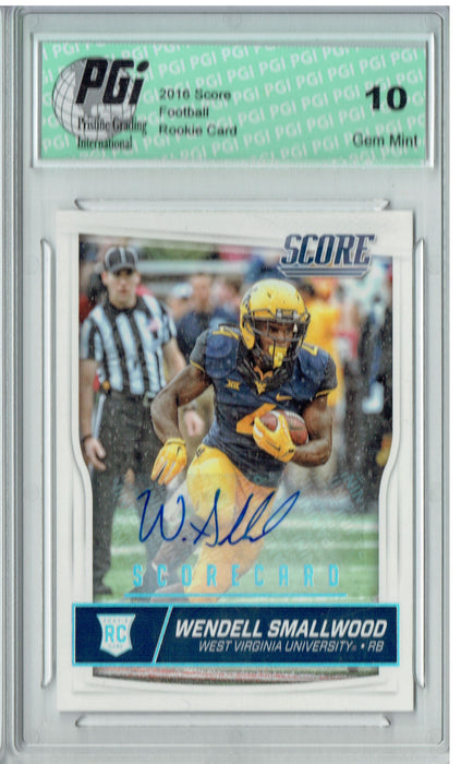 Wendell Smallwood 2016 Score #433 Auto SP Rookie Card PGI 10