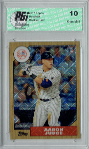 Aaron Judge 2017 Topps #87-AJ 1987 Chrome Refractor Rookie Card PGI 10