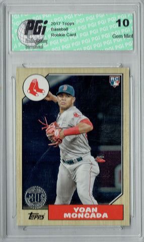 Yoan Moncada 2017 Topps #87-12 1987 Retro SP Rookie Card PGI 10