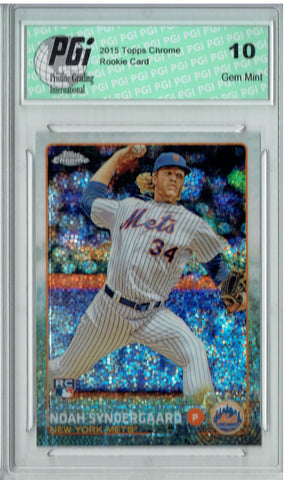 Noah Syndergaard 2015 Topps Chrome #US157 Bubbles Refractor Rookie Card PGI 10