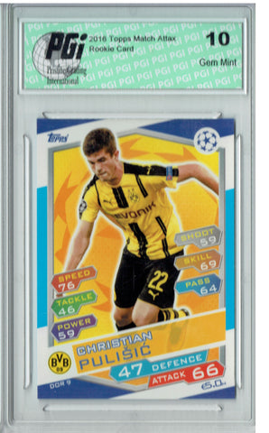 Christian Pulisic 2016 Topps Champions League #DOR9 Rookie Card PGI 10