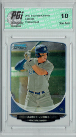 Aaron Judge 2013 Bowman Chrome #BDPP19 Rookie Card PGI 10