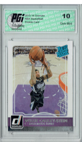 Willie Cauley-Stein 2015 Donruss #210 Rated Rookie SP Rookie Card PGI 10