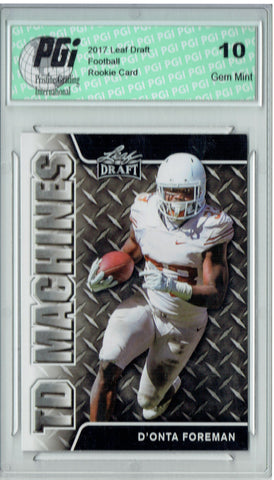 D'Onta Foreman 2017 Leaf Draft #TD-04 Rookie Card PGI 10