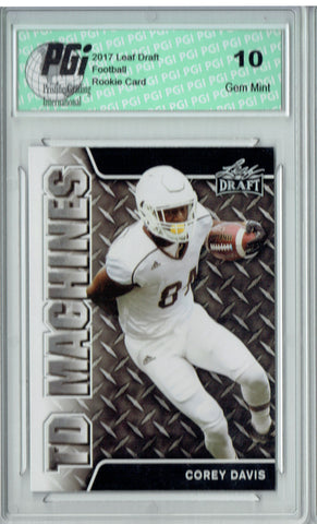 Corey Davis 2017 Leaf Draft #TD-03 Rookie Card PGI 10