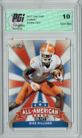 Mike Williams 2017 Leaf Draft #AA-15 Rookie Card PGI 10