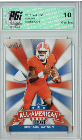 Deshaun Watson 2017 Leaf Draft #AA-09 Rookie Card PGI 10