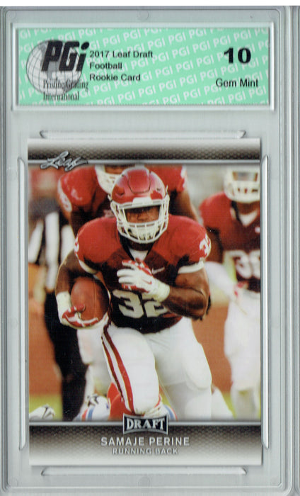 Samaje Perine 2017 Leaf Draft #59 Rookie Card PGI 10