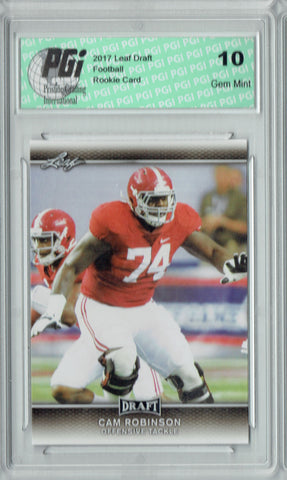 Cam Robinson 2017 Leaf Draft #34 Rookie Card PGI 10