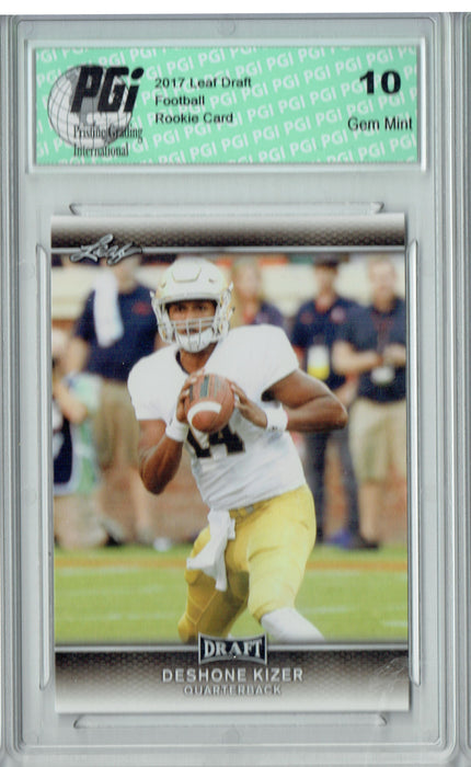 DeShone Kizer 2017 Leaf Draft #27 Rookie Card PGI 10