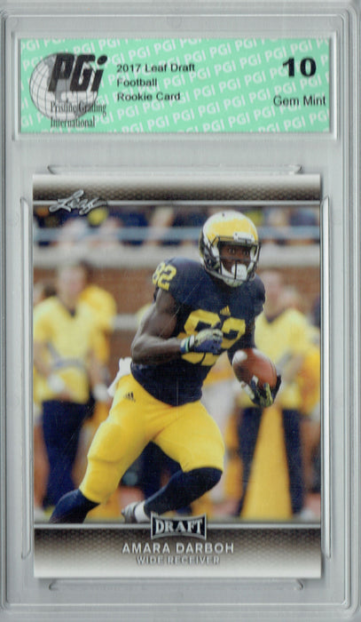 Amara Darboh 2017 Leaf Draft #2 Rookie Card PGI 10