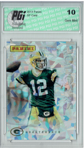 Aaron Rodgers 2013 Panini Cracked Ice #16 Only 25 Made Card PGI 10