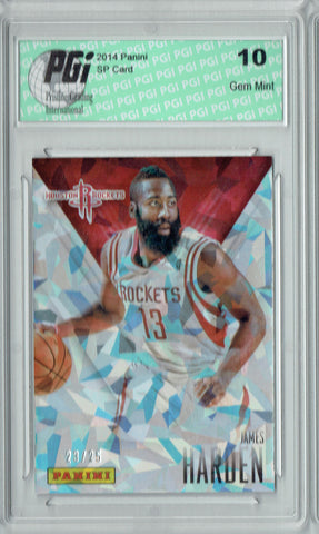 James Harden 2016 Panini Cracked Ice #6 Only 25 Made Card PGI 10