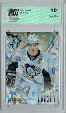 Sidney Crosby 2014 Panini Cracked Ice #13 Only 25 Made Card PGI 10