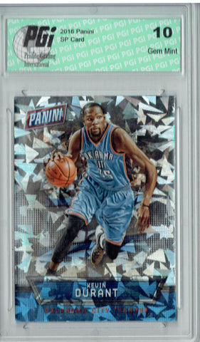 Kevin Durant 2016 Panini Cracked Ice #14 Only 25 Made Card PGI 10