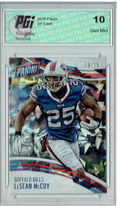 Lesean McCoy 2016 Panini Cracked Ice #11 Only 25 Made Card PGI 10