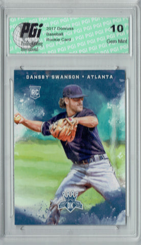 Dansby Swanson 2017 Donruss #129 Diamond Kings SP Rookie Card PGI 10