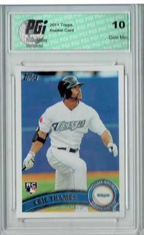 Eric Thames 2011 Topps Update #US288 Rookie Card PGI 10