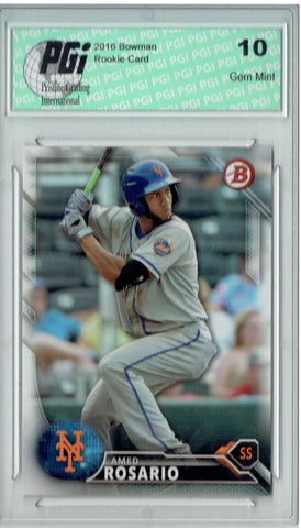 Amed Rosario 2016 Bowman #BP95 Rookie Card PGI 10