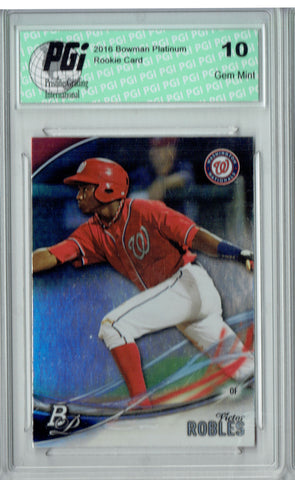 Victor Robles 2016 Bowman Platinum #TP-VR Refractor Rookie Card PGI 10