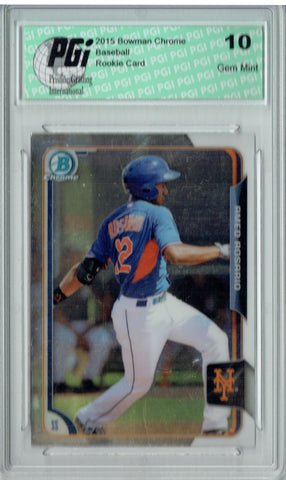 Amed Rosario 2015 Bowman Chrome #163 Rookie Card PGI 10