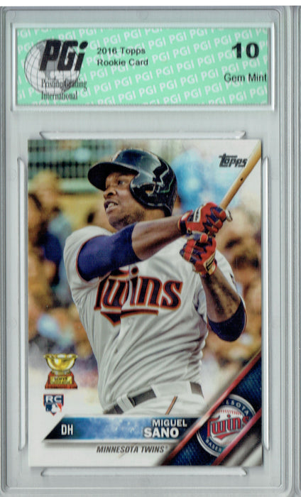 Miguel Sano 2016 Topps #78 Rookie Card PGI 10