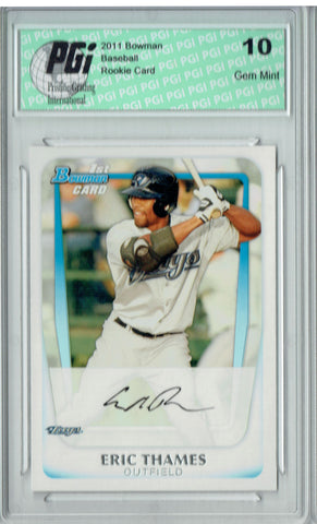 Eric Thames 2011 Bowman #BP102 Rookie Card PGI 10