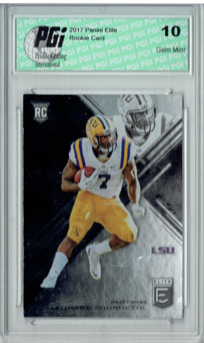 Leonard Fournette 2017 Elite #105 Rookie Card PGI 10