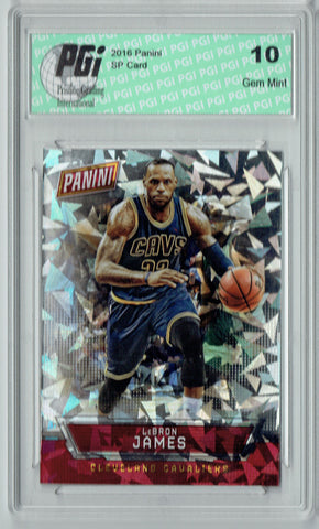 Lebron James 2016 Panini Cracked Ice #13 Only 25 Made Card PGI 10
