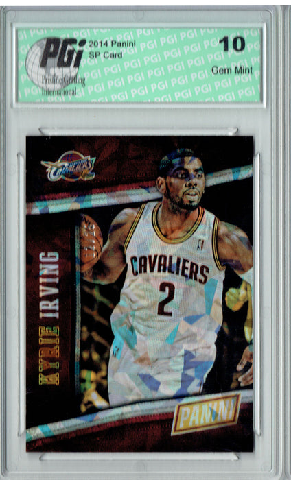 Kyrie Irving 2014 Panini Cracked Ice #18 Only 25 Made Card PGI 10