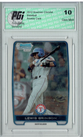 Lewis Brinson 2012 Bowman Chrome #BDPP31 SP Rookie Card PGI 10