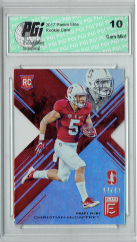 Christian McCaffrey 2017 Panini Elite #118 Only 49 Made Rookie Card PGI 10