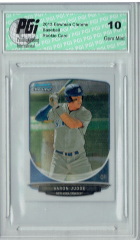 Aaron Judge 2013 Bowman Chrome #311 Mini Set SP Rookie Card PGI 10