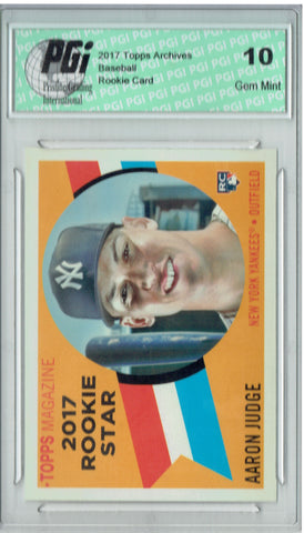 Aaron Judge 2017 Topps Archives #RS-9 1960 Throwback SP Rookie Card PGI 10