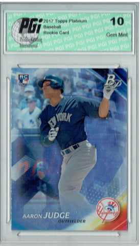 Aaron Judge 2017 Bowman Platinum #91 Rookie Card PGI 10