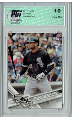 Yoan Moncada 2017 Topps Factory #210 Photo Variation Rookie Card PGI 10