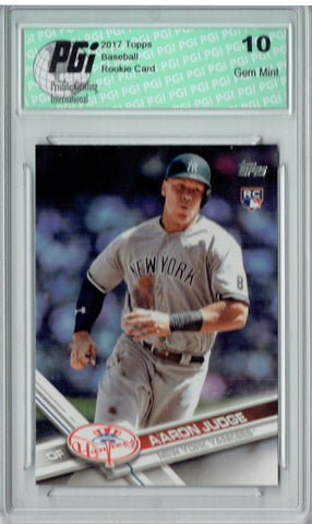 Aaron Judge 2017 Topps Factory #287 Home Run Trot SP Rookie Card PGI 10