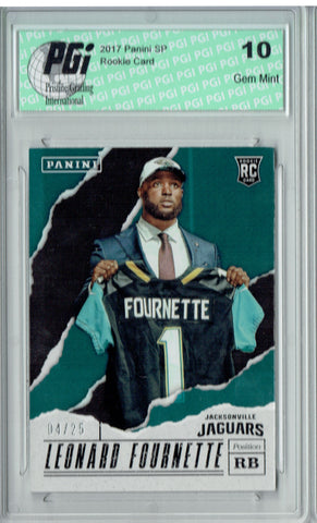 Leonard Fournette 2017 Panini Foil SSP #39 Only 25 Made Rookie Card PGI 10