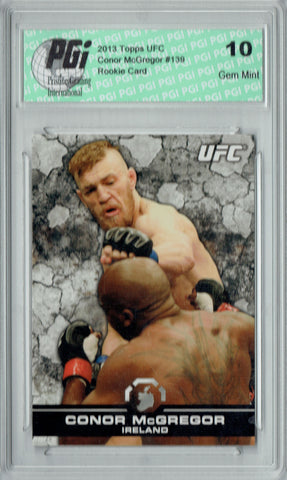 Conor McGregor 2013 Topps UFC #139 Rookie Card PGI 10