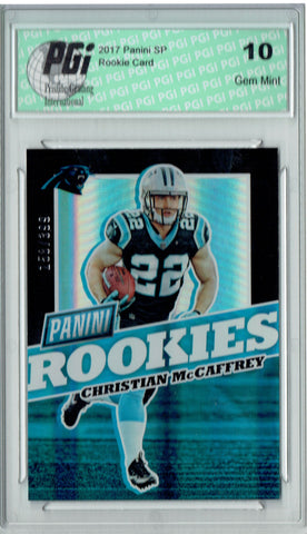 Christian McCaffrey 2017 Panini Rookies #FB32 Only 399 Made Rookie Card PGI 10