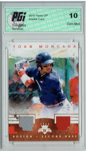 Yoan Moncada 2016 Diamond Kings #DKM-YO Dual Patch 25 Made Rookie Card PGI 10