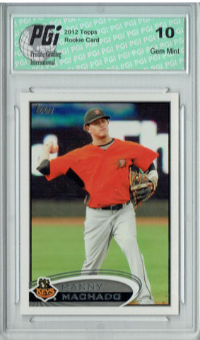 Manny Machado 2012 Topps Pro Debut #16 Rookie Card PGI 10