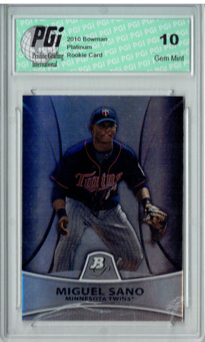 Miguel Sano 2011 Bowman Platinum #PP28 999 Made Rookie Card PGI 10